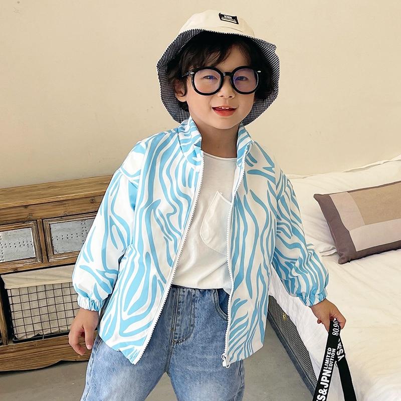 Toddler Boy jackets Windproof Jacket Kids Windbreaker Zipper Baby Boys&girls Jacket 2T 7T Summer Aut
