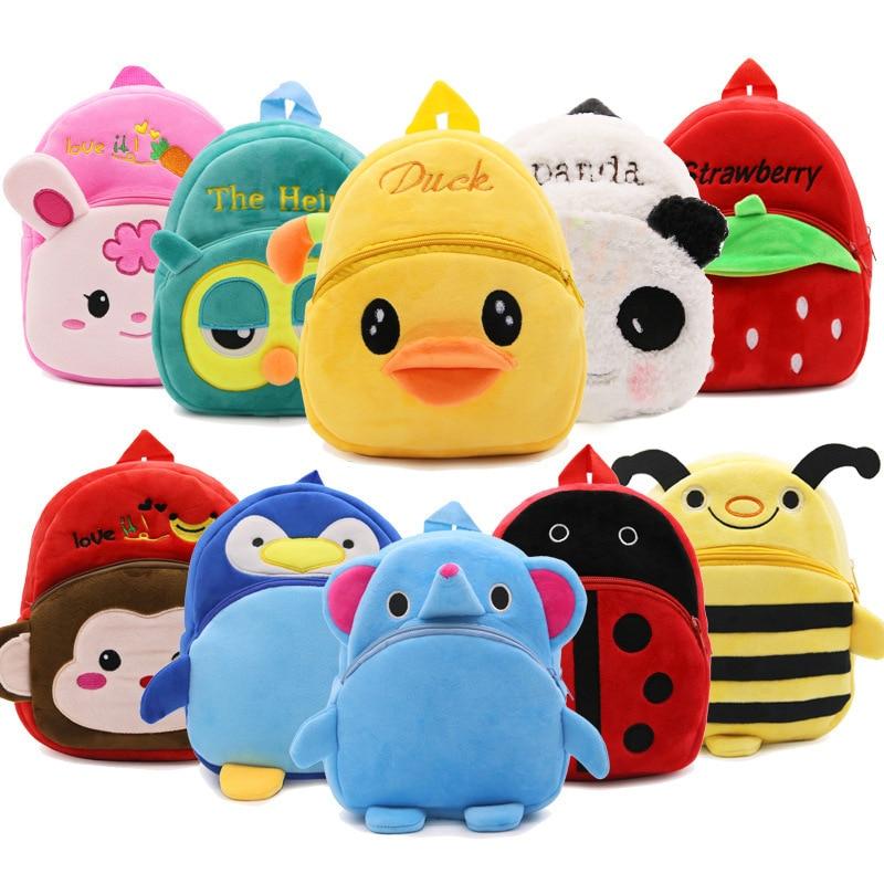 Cute Toddler Backpack Toddler Bag Plush Animal Cartoon Mini Travel Bag for Baby Girl Boy 1-3 Years