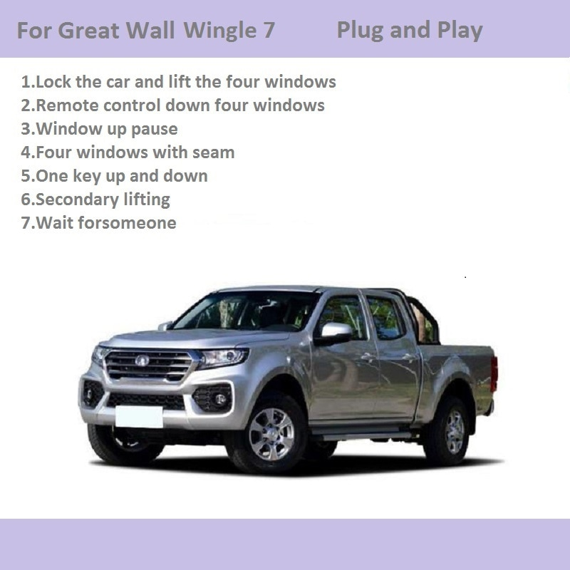 Car Automatic Window Closer Closing&Open Control By Remote Control/One Key Window Lifter For Great Wall Wingle 7 Car Accessories