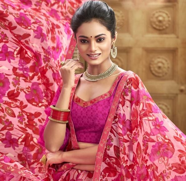 Ethnic Party Saree Unstitched Blouse Combo Pakistani Indian Women Designer Wear