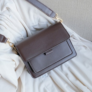 Female Square Bag 2020 New Quality PU Leather Black Brown Crossbody Bags Designer PU Leather Ladies Hand Bags