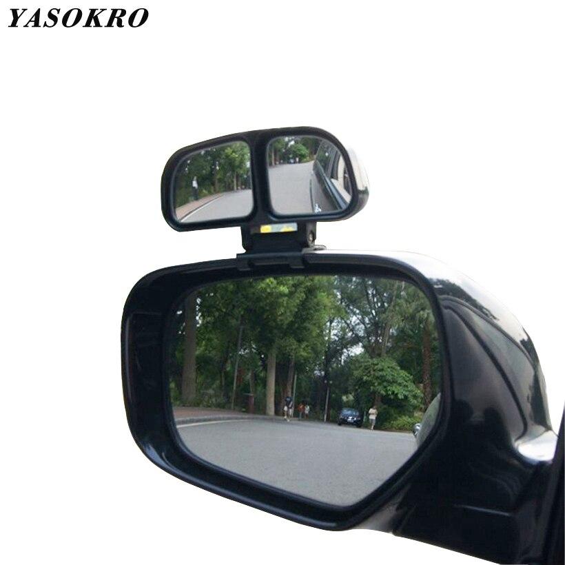 Espejo cuadrado Original YASOKRO, espejo Retrovisor lateral gran angular para coche, espejo convexo doble universal para estacionamiento