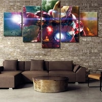 canvas painting 5 piece hd print iron armoring movie poster painting canvas wall art picture home decoration living room