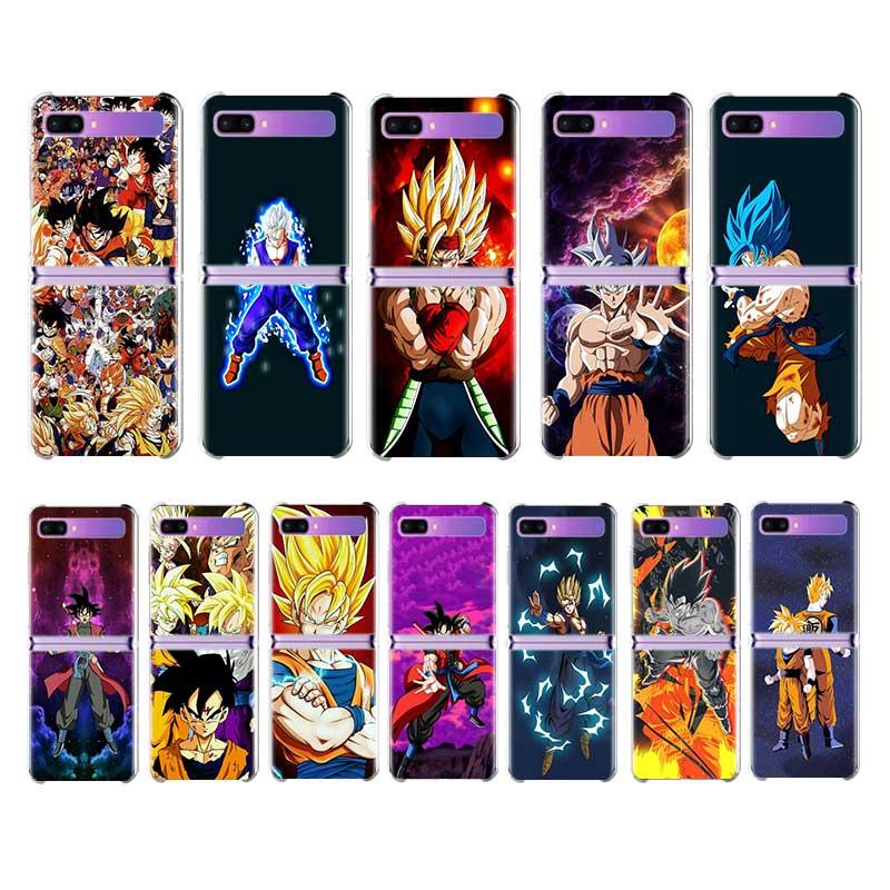 """Para Samsung Galaxy Z do Caso Da Aleta Fino 6.7 """"Hard Alta Limpar PC Phone Cases Para Galaxy Z Aleta ZFlip 5G Dragon Ball Z Anime Fundas"""