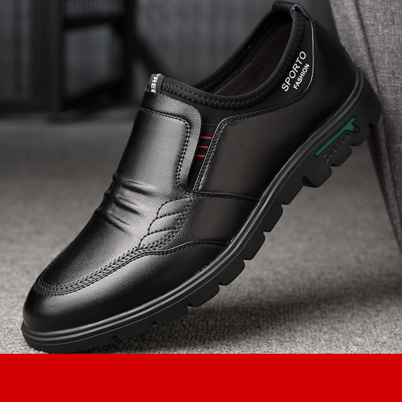 AliExpress - Leather Man Spring Summer 2021 New Men's Soft-soled Casual Leather Shoes Cover Foot Odor-proof Breathable Leather Shoes