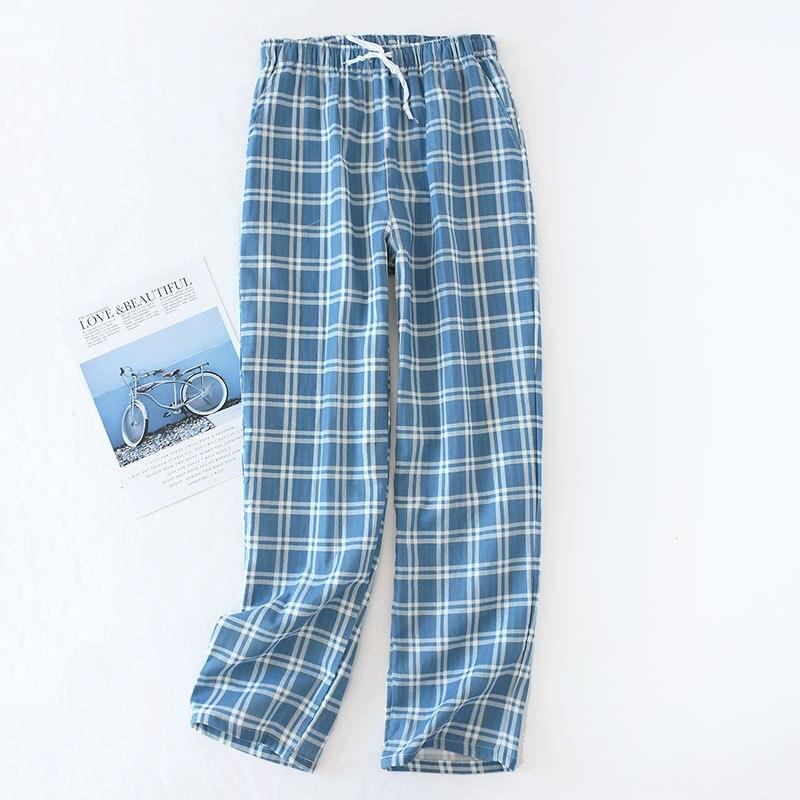 Мужчины% 27 хлопок марля брюки плед трикотаж сна брюки мужские пижамы брюки низ одежда для сна пижама шорты для мужчин пижама хомбре