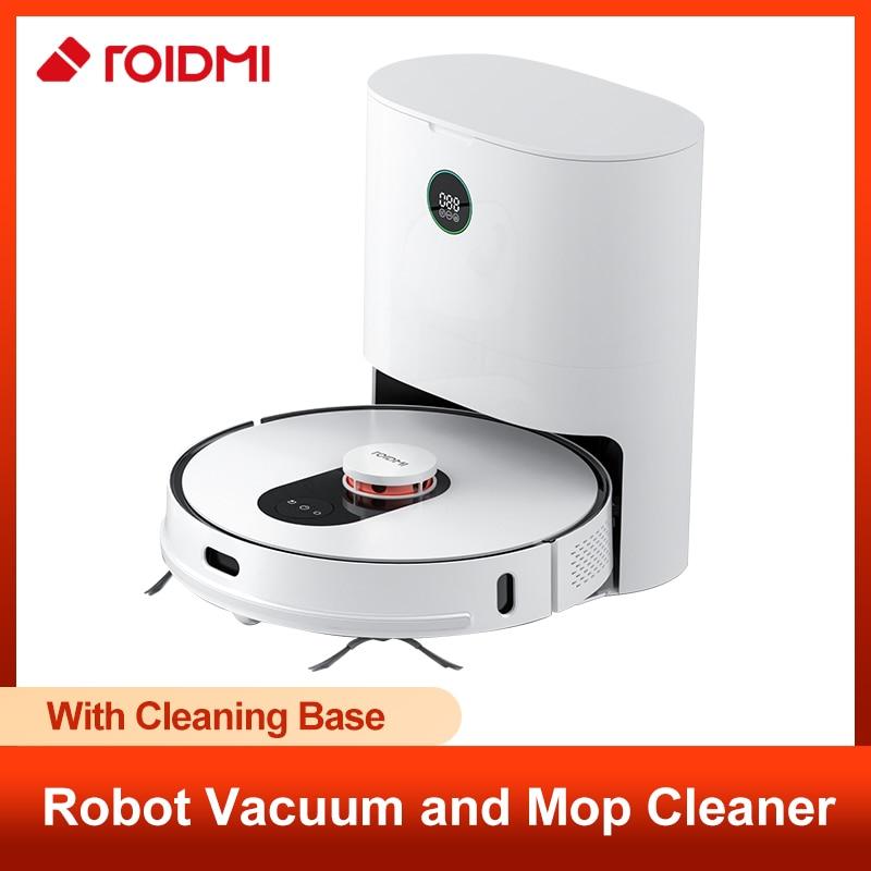 ROIDMI EVE Plus 2700Pa LDS Laser Navigation Roboter Vakuum Mopp Reiniger, APP Virtuelle Wand, 2cm Klettern, Multi-Schicht Karte