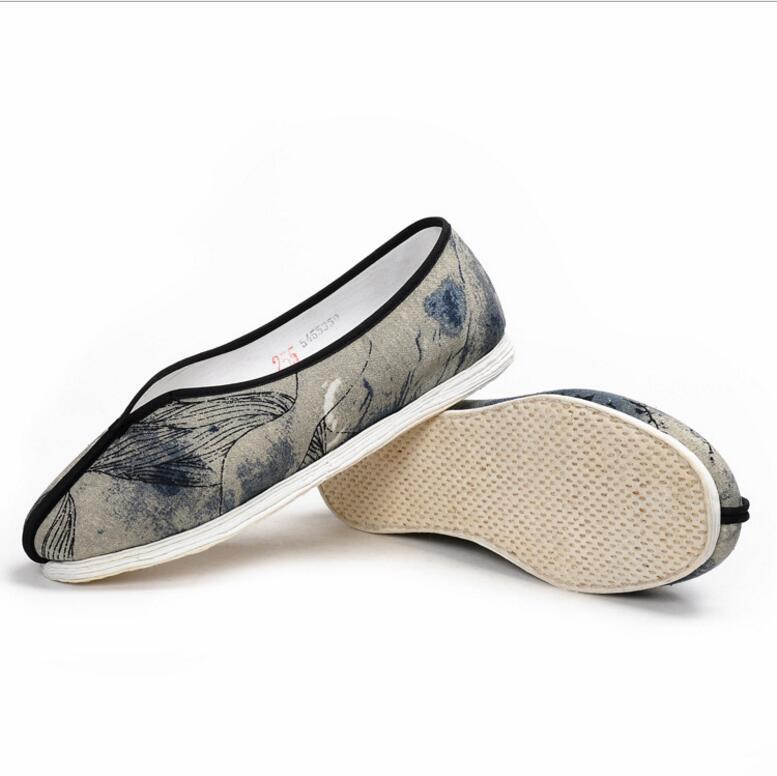 أحذية قماشية للجنسين مصنوعة يدويًا من بكين القديمة ، أحذية غير رسمية قابلة لإعادة الاستخدام لفصلي الربيع والصيف والخريف