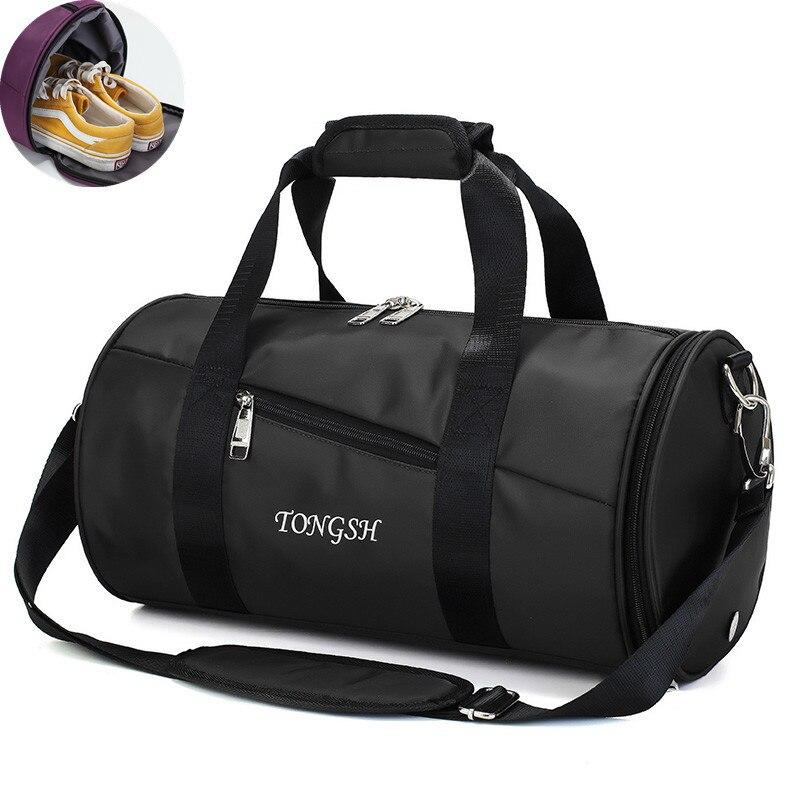 Bolsa de viaje multifunción de gran capacidad para hombres bolsa de lona impermeable para el almacenamiento de trajes de viaje bolsas de equipaje de mano Yoga con bolsa de zapatos