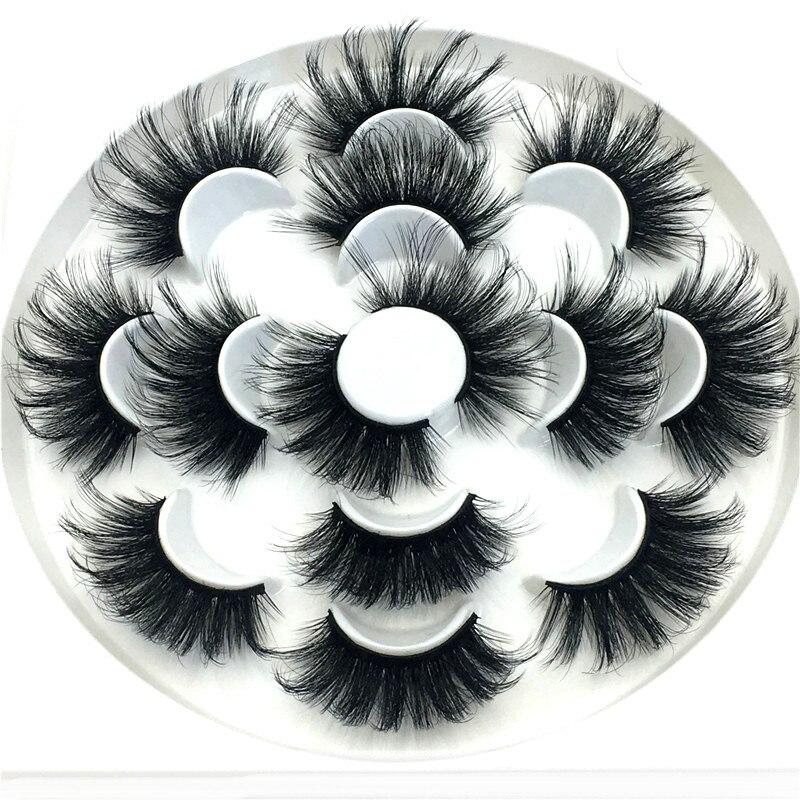 25mm cílios postiços 7 pares 8d vison cílios grossos cílios naturais estendido cílios de maquiagem profissional