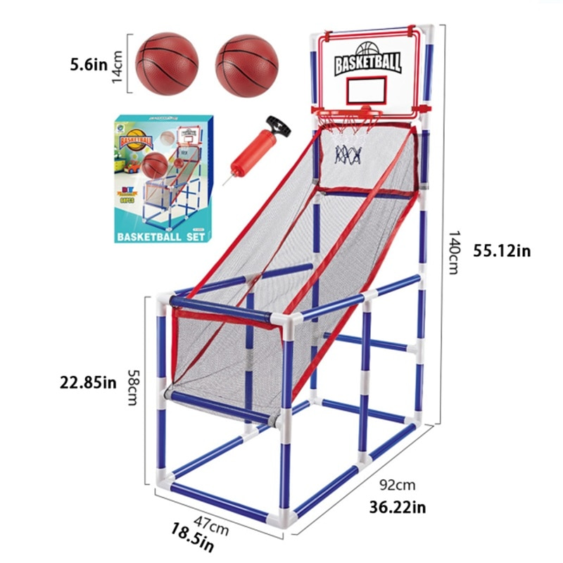 Indoo14CM Basketball X2 Board Leisure Parent-child Sports Ball Boy Toy Household Basketball Stand Free To Pick Up The Ball