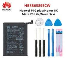 Hua Wei 100% original HB386589ECW 3750mAh batterie pour Huawei P10 plus Honor 8X vue 10 V10 Mate 20 Lite Nova 3/4 Batteries + outils