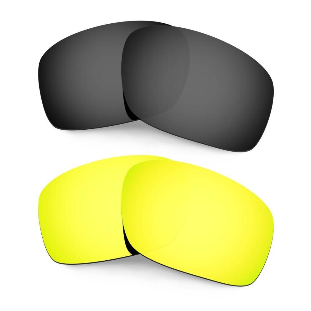 HKUCO ل المبضع النظارات الشمسية استبدال العدسات المستقطبة 2 أزواج-الأسود و الذهب
