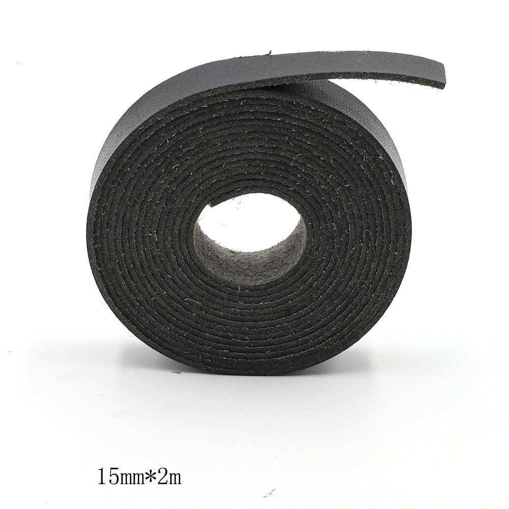 1 pçs novo 15mm x 2m super fibra caso vestido de couro diy acessórios preto super fibra sacos de couro acessórios diy alça saco