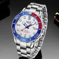 2021 lige sport wristwatch for man top brand stainless steel waterproof clocks men watch military quartz wristwatch montre homme