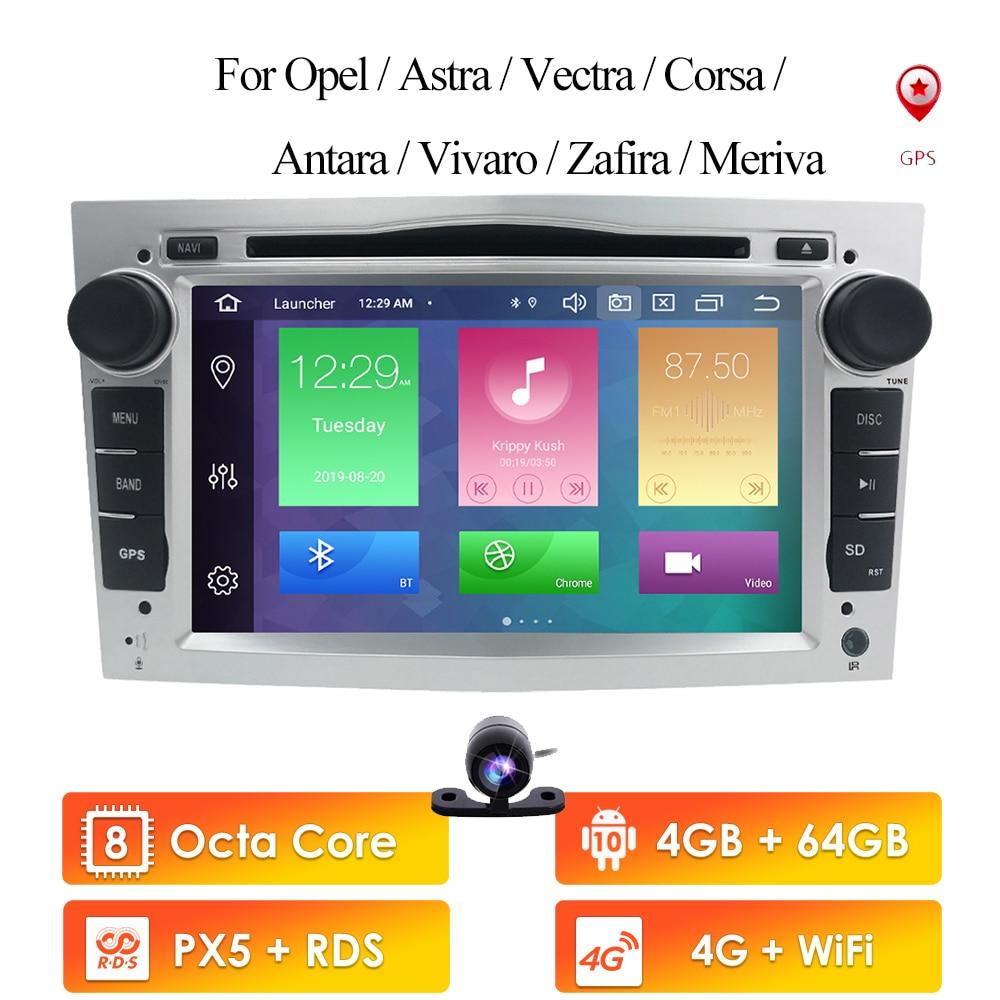 Автомагнитола 2Din 7 дюймов 4G ROM Android 10 для opel Vauxhall Holden Astra H Vectra Antara Zafira Corsa Vivaro Meriva, Dvd-плеер