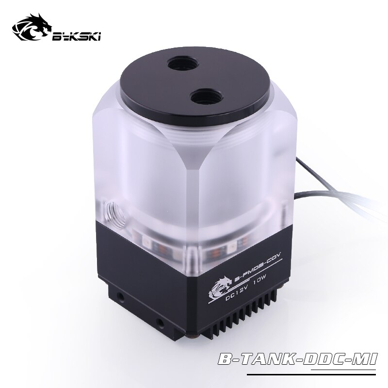 Bykski DDC Combo Pump + Reservoir Maximum Flow Lift 6 Meters 600L/H Compatible DDC Cover Radiator Water Tank Length 67mm