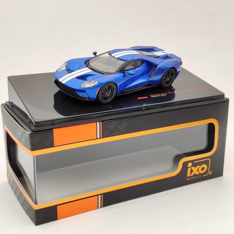 Ixo 143 para ford gt 2017 azul moc205 diecast modelos coleção edição limitada