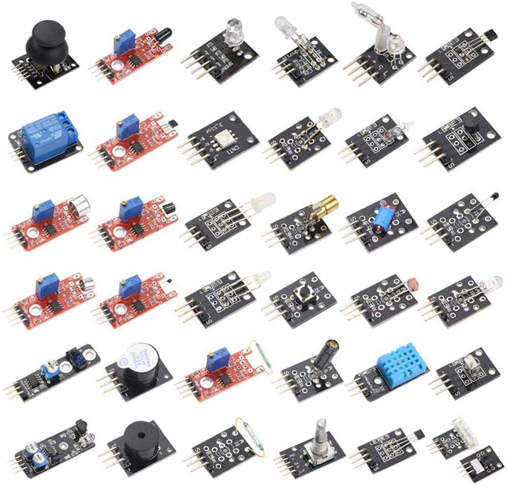 37 Sensors Assortment Kit 37 Sensors Kit Sensor Starter Kit for Arduino Raspberry pi 37 in 1 Robot Projects Starter Kits brock craft arduino projects for dummies