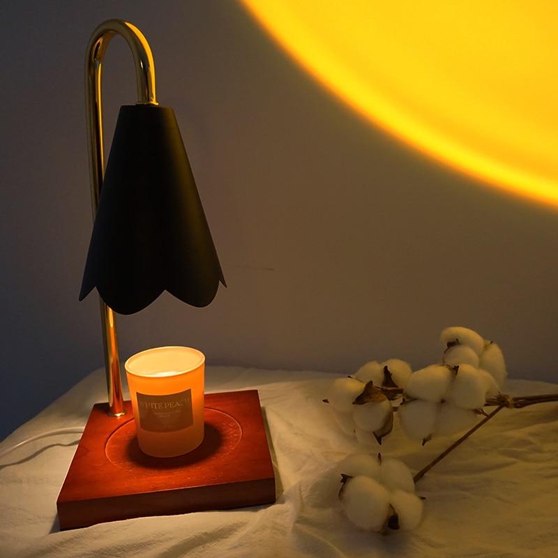 Candle Lamp Table lamp for bedroom Bedside lamp Melt Candle Adjustable Wax Melter Light Fragrance Lamp EU Charger