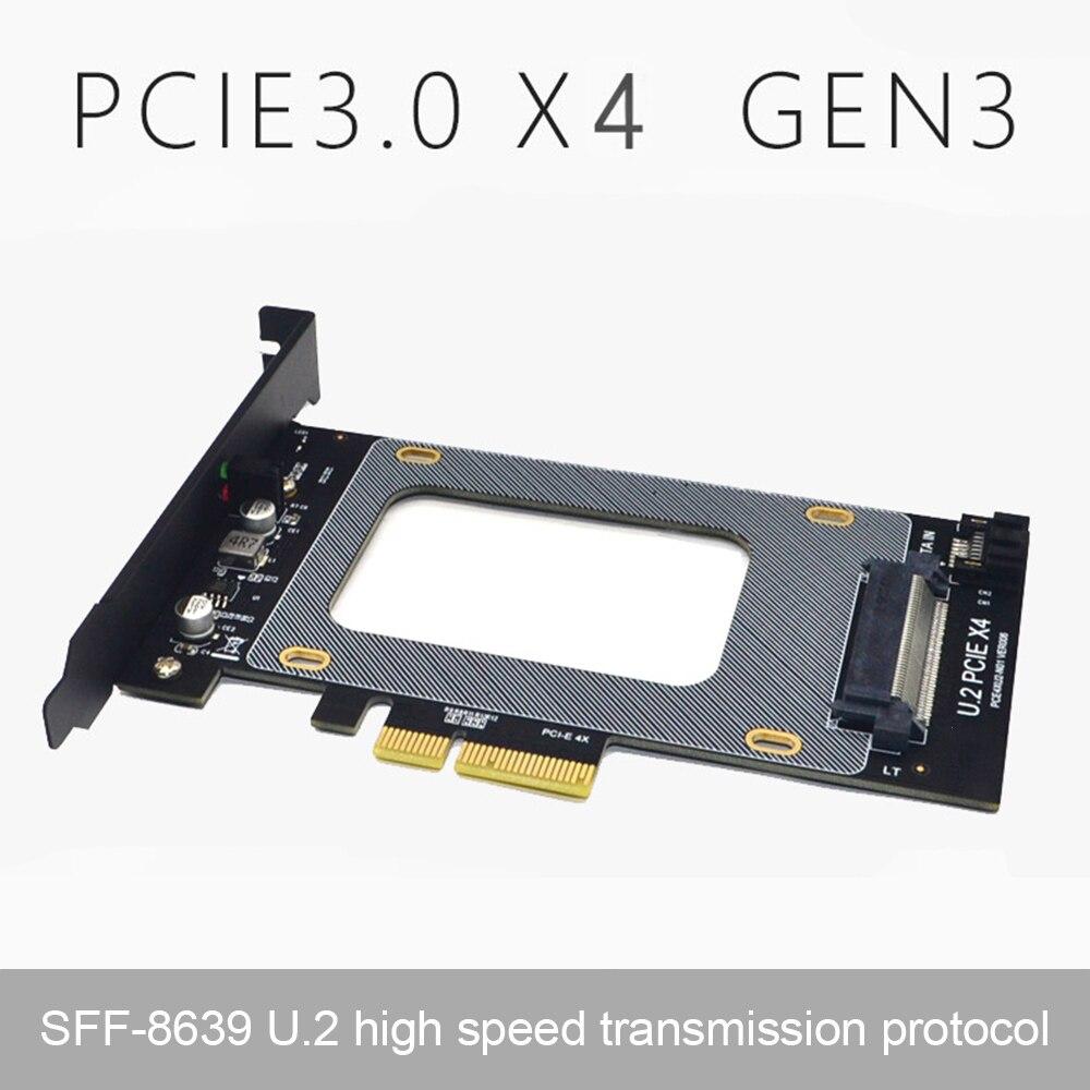 الولايات المتحدة 2 إلى PCI-E X4 بطاقة الناهض 3.0 SFF-8639 إلى SSD تمديد محول الولايات المتحدة 2 SSD SATA PCI بطاقة Express 2.5 بوصة SATA HDD دروبشيبينغ