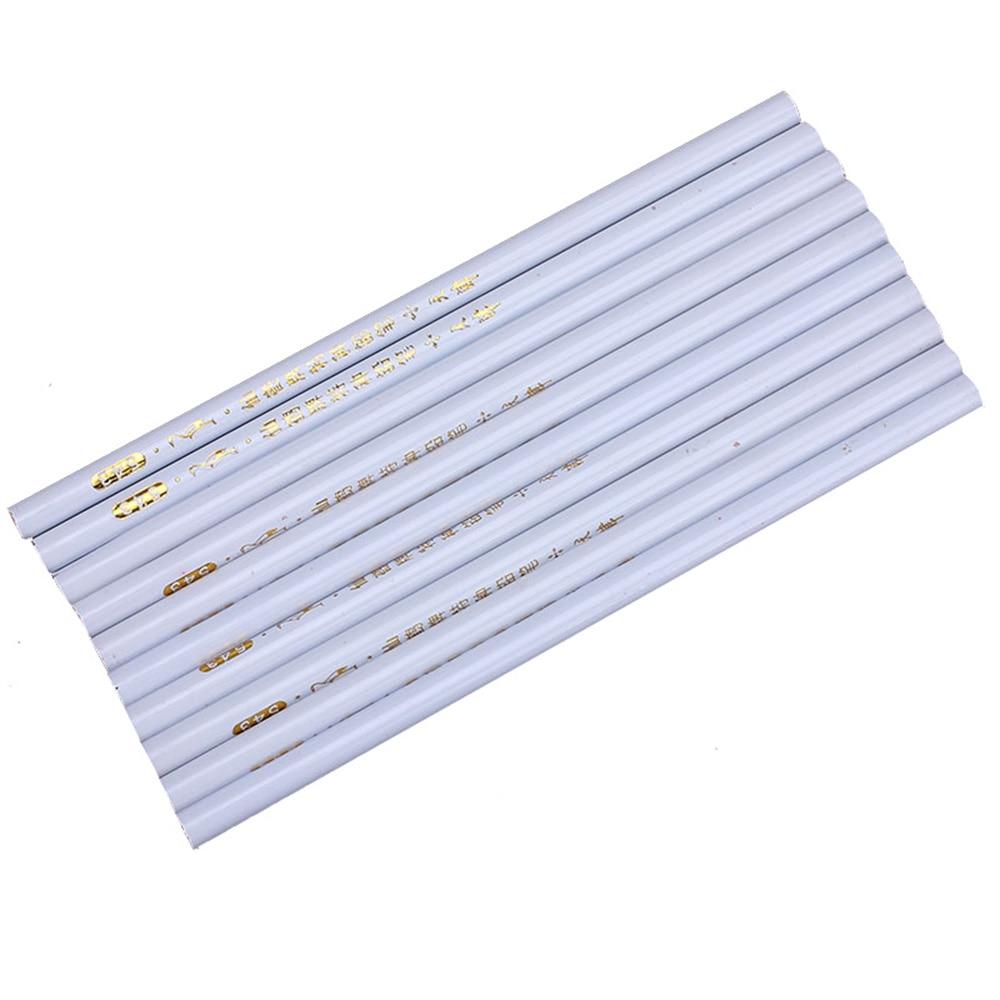 Купить с кэшбэком 10pcs/lot White Wax Nail Rhinestones Picker Dotting Pen DIY Pencils Design Picking Crystal Gems Nail Point Dotting Pencil Tools
