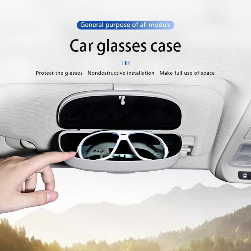 Zonnebril houlder-Accesorios para gafas De sol, funda con Clip, para coche