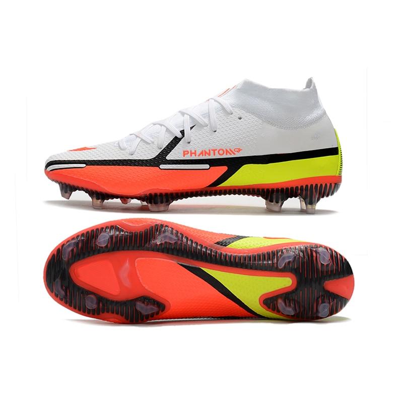 Мужские высокие футбольные ботинки дышащие женские футбольные ботинки для тренировок FG мужские футбольные ботинки уличные спортивные кро...