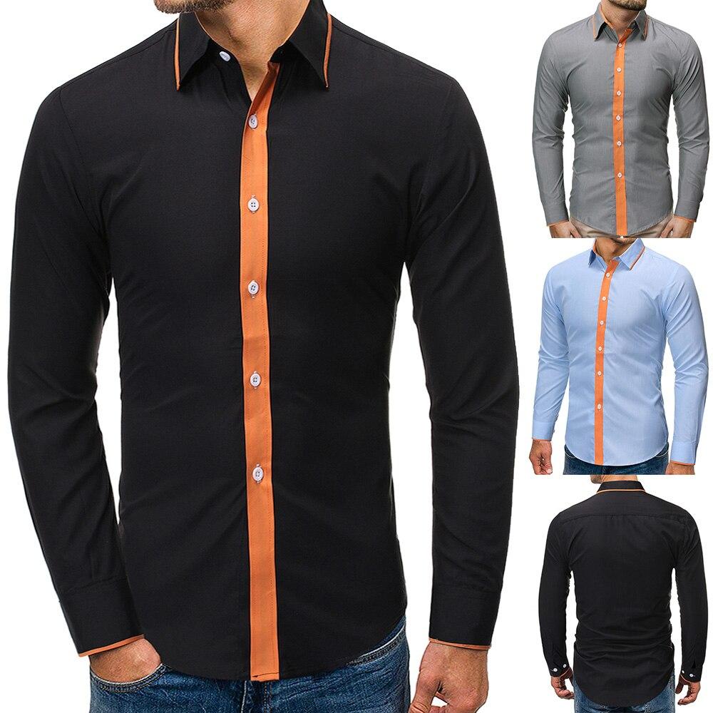 Camisa para hombre, Camisa de manga larga para hombre, ropa de marca, Camisa informal ajustada, Camisa Social a rayas, Camisa Masculina para hombre