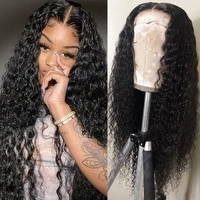 deep wave human hair wig lace front human hair wigs for women 13x6x1 t part lace wig brazilian human hair lace frontal wigs
