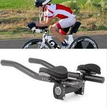 Barras de apoyo de manillar TT aerodinámico para prueba de contrarreloj de triatlón, manillar de apoyo para bicicleta de larga distancia