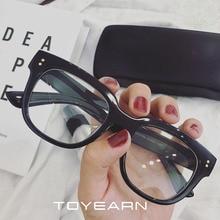 2020 New Vintage Sexy Ladies Oversized Square Sunglasses Women  Clear Glasses Rivet Frame Transparent Glasses Female Optical Eye
