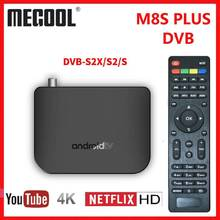 M8S PLUS DVB Smart 4K Android TV Box DVB-S2X/S2/S terrestre Combo Amlogic S905D Quad Core 1GB 8GB 1080p