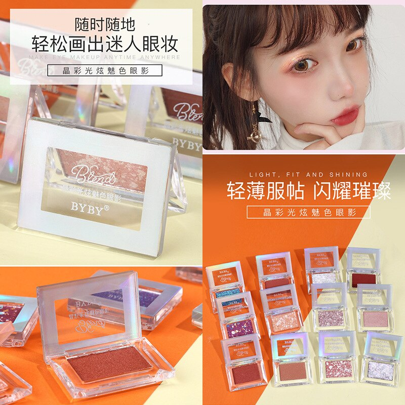 Cristal guang xuan-Sombra de ojos de Color, compacto, perlado, mate, impermeable, tierra,...