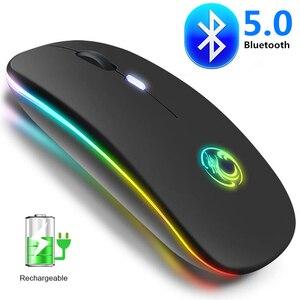 Беспроводная мышь Bluetooth, геймерская компьютерная мышь, бесшумная эргономичная мышь Mause, Bluetooth, USB, Двухрежимная мышь для ПК, ноутбуков, игр