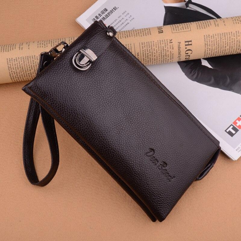 Men Wallets Large Capacity Clutch Bag Passcard Pocket Male Business Wallet Long zipper wallet multi waterproof cell phone bag недорого