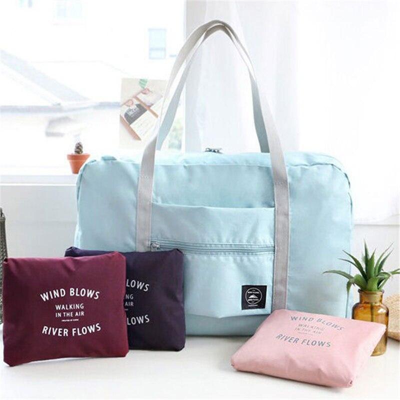 Travel Luggage Bag Big Size Folding Carry-on Duffle bag Foldable Travel Storage Bag For Women Ladies