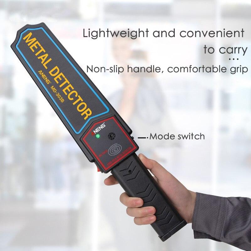 Outils électroniques portatifs portatifs de sonde de métal-trouveur de sécurité de Scanners superbes de détecteur de métaux de sensibilité élevée pour des écoles/bureau