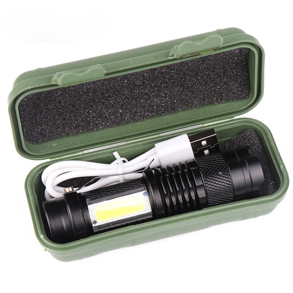 Встроенный аккумулятор XP-G Q5 Zoom Focus Mini led фонарик фонарик лампа фонарь 2000 люмен регулируемый фонарик водонепроницаемый T6 свет