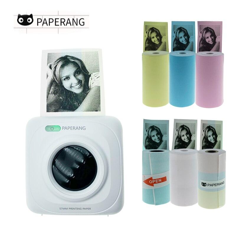 Paperang P1 mini impresora térmica portátil de bolsillo, pequeña impresora de bolsillo, bluetooth, USB, impresoras para Android iOS, teléfono, PC