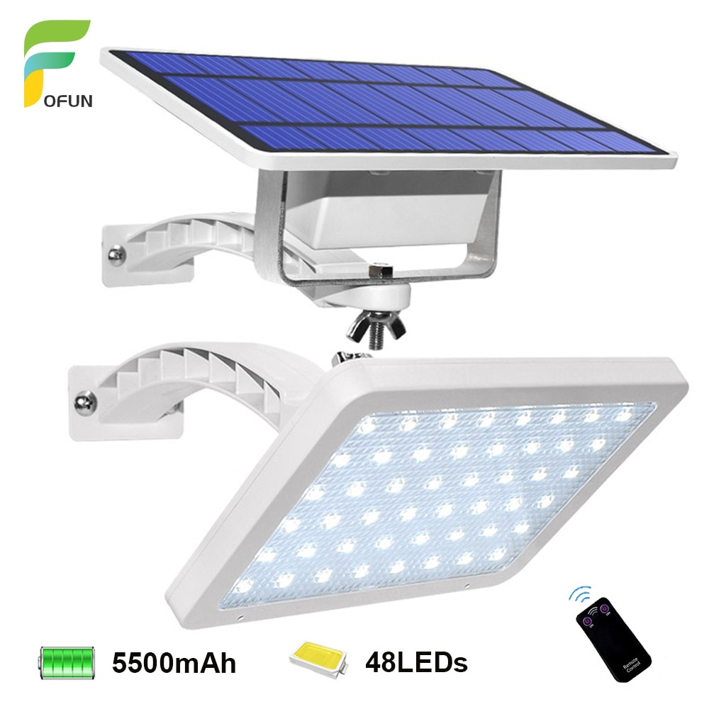 super bright 24 leds solar panel street light led on the wall waterproof outdoor lighting solar panel lamp with 4000ma battery 48 LEDs Solar Light 800LM Bright Adjustable Lighting Angle Outdoor Solar Garden Lamp Waterproof Lighting For Wall Yard Street