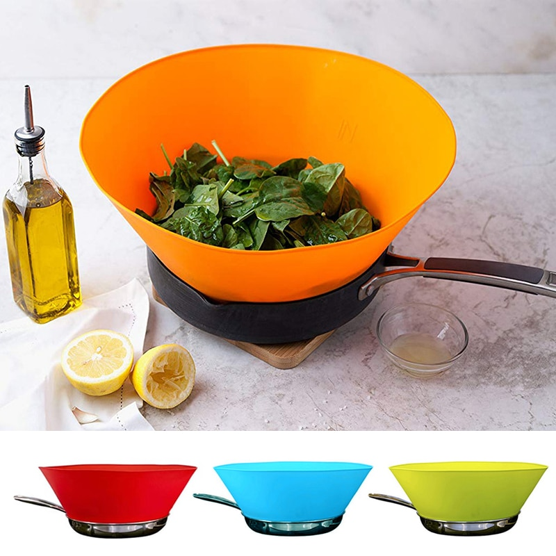 Pot Baffle Oil Splash Guard Screen Fryguard Splatter Non-stick Silicone Splash-proof Kitchen Accessories LXY9
