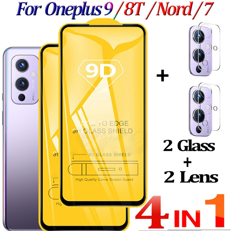 Cristal TempladoOnePlus 9,Vidrio protector Para OnePlus 9 5G Glass 8T Nord Protector...