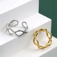 meyrroyu 925 sterling silver korean high quality geometric hollow line ring female fashion jewelry couple gift wholesale