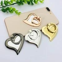 1pc metal cell phone love heart mirror holder round 360 ring stand finger bracket ring holder for phone