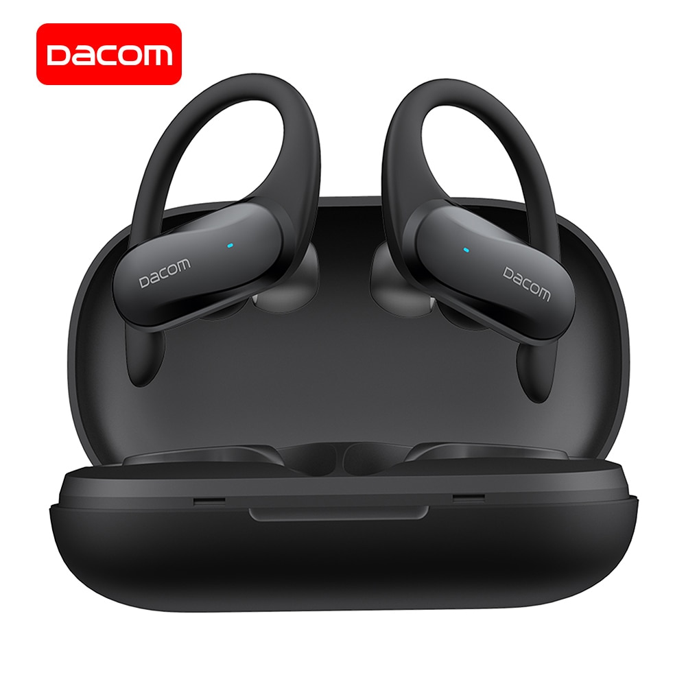 Dacom g05 tws fones de ouvido bluetooth baixo verdadeiro sem fio estéreo headphons esportes fone ouvido gancho correndo para iphone xiaomi