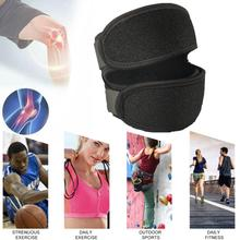 Adjustable Knee Tendon Strap Protector Guard Support Belted Pad Outdoor Knee Brace Black Sports R2U0