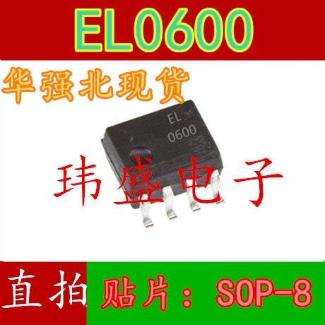 10pcs EL0600 SOP-8 1.27 MILÍMETROS HCPL-0600