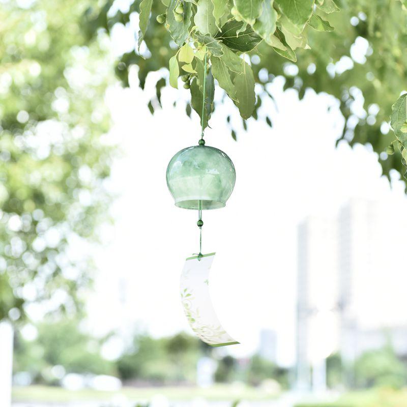 Японский стиль ветер куранты висячие украшения ветроловка ручной работы стекло подарок на день рождения украшения дома аксессуары колокольчики