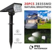 Регулируемый Точечный светильник на солнечной батарее, садовый супер яркий светильник для ландшафта, настенный светильник для улицы, T-SUN 1 ш...